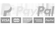 PayPal - Visa - Mastercard - Bank transfer